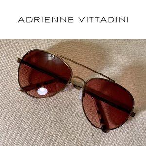 Adrienne Vittadini Aviator Sunglasses LIKE NEW!